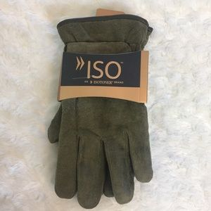Isotoner Gloves Army Green NWT Large